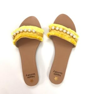 hippie laundry yellow fringe sandals